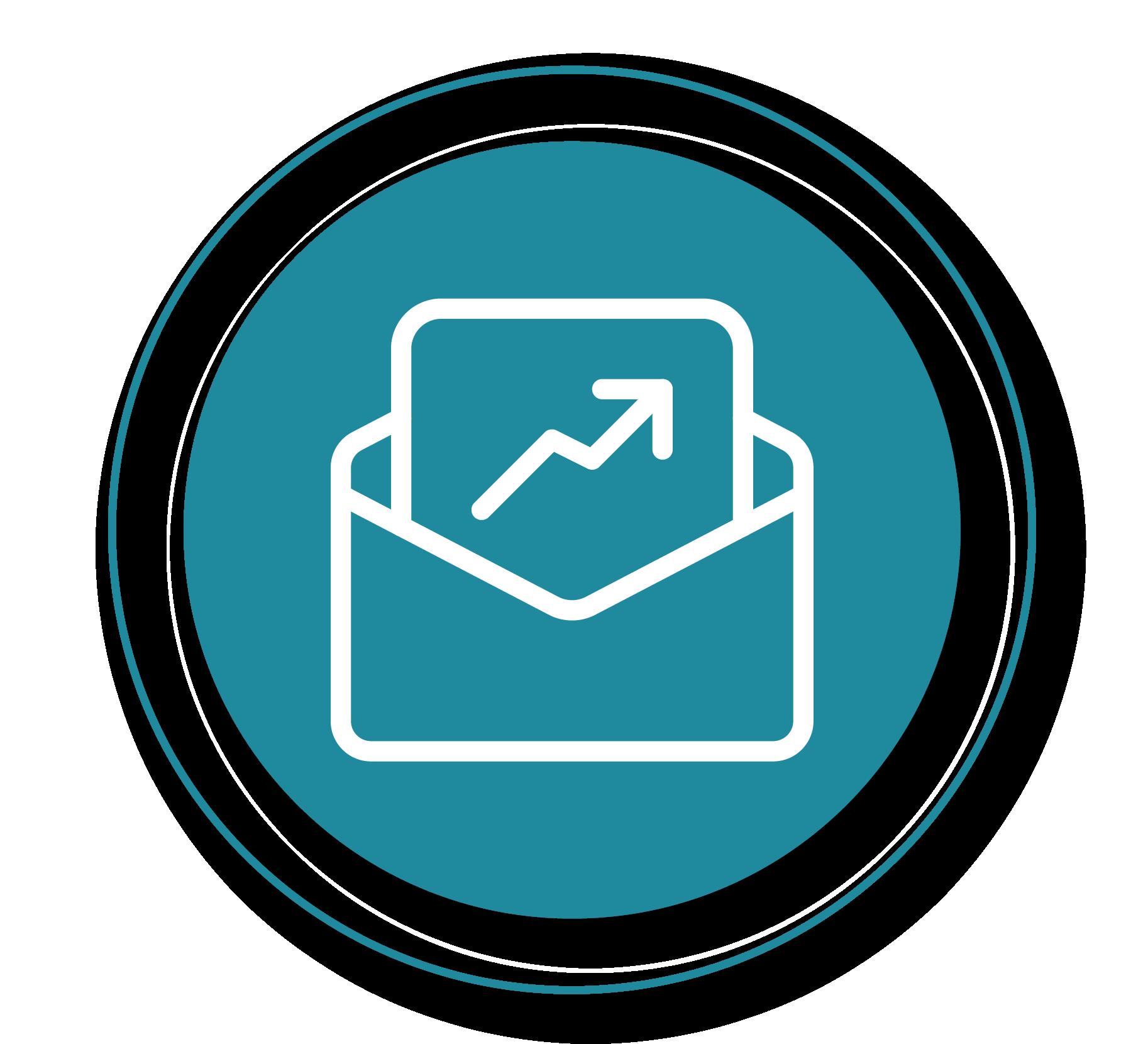 email icon with upward arrow